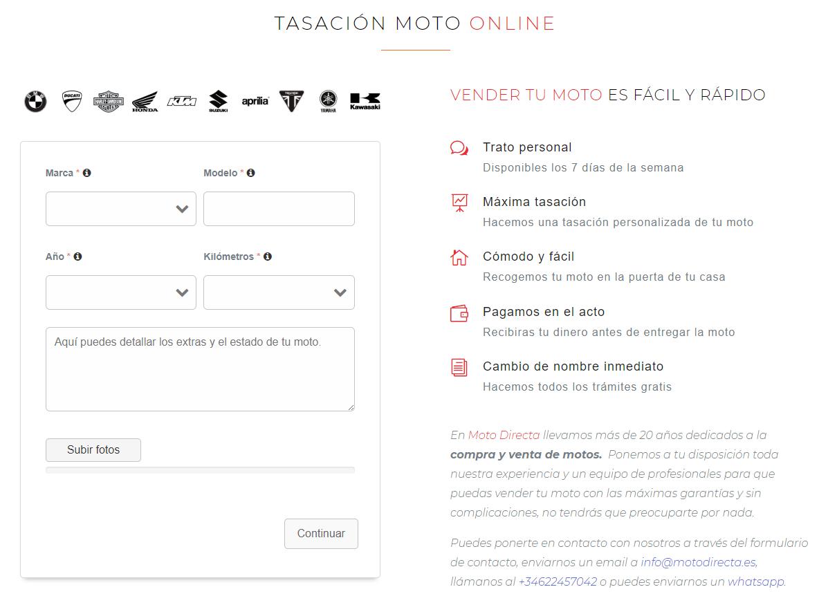 Tasación Online Moto